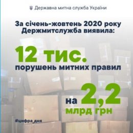 На 2.2 млрд грн виявили митники 12 тис. порушень законодавства